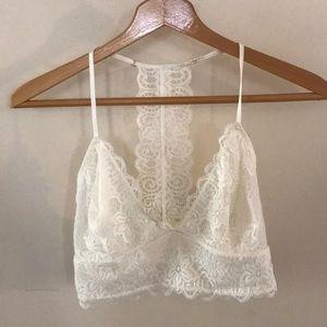 White/ cream lace bralette